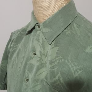 Quiksilver sueded short sleeve tropical palm